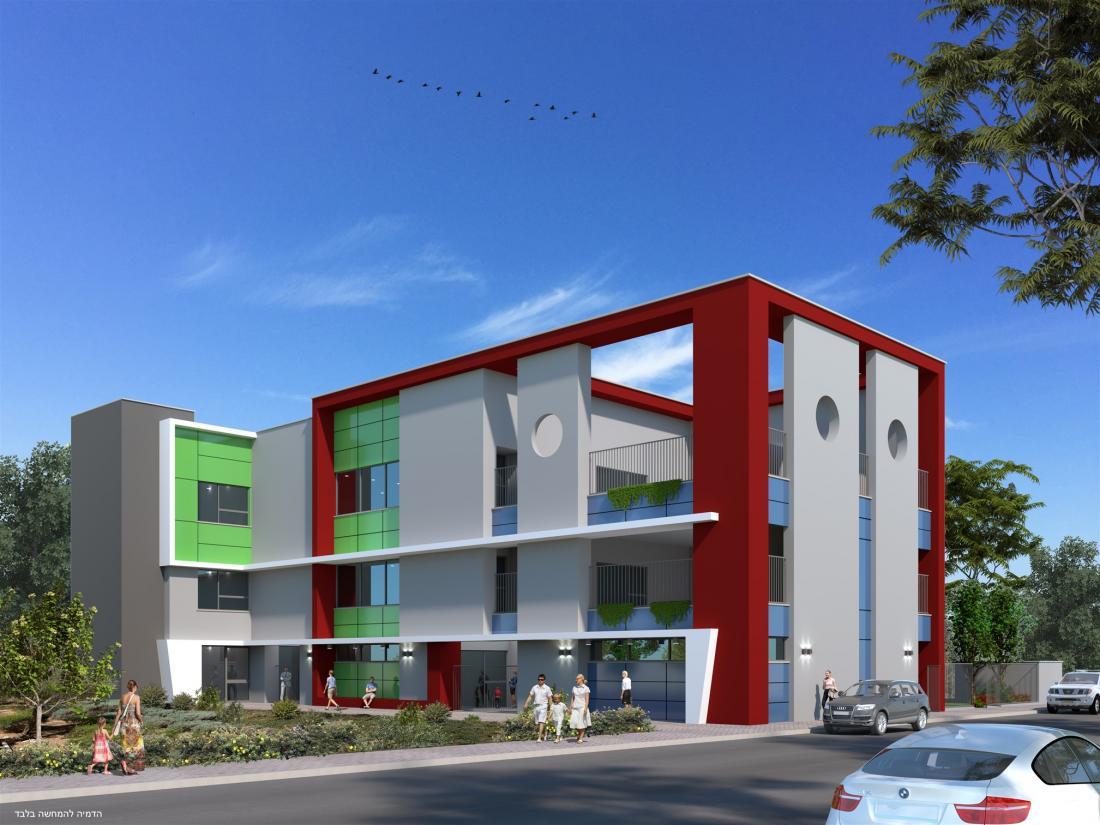מבנה משולב הכולל שלושה גני ילדים ומרכז קהילתי רחוב נחל דולב בנתניה
